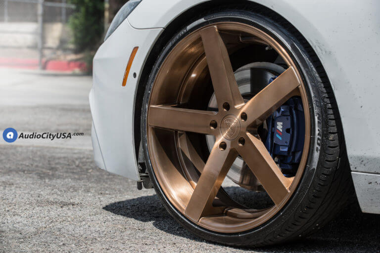 2013 BMW 645i | 22″ Rohana Wheels RC22 Custom Brush Copper Rims | Pirelli TIres | AudioCtiyUSA