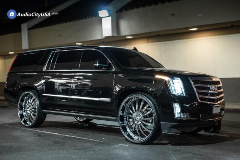 2016 Cadillac Escalade | 30″ Asanti Wheels AF815 Chrome Deep Dish Rims | AudioCityUSA