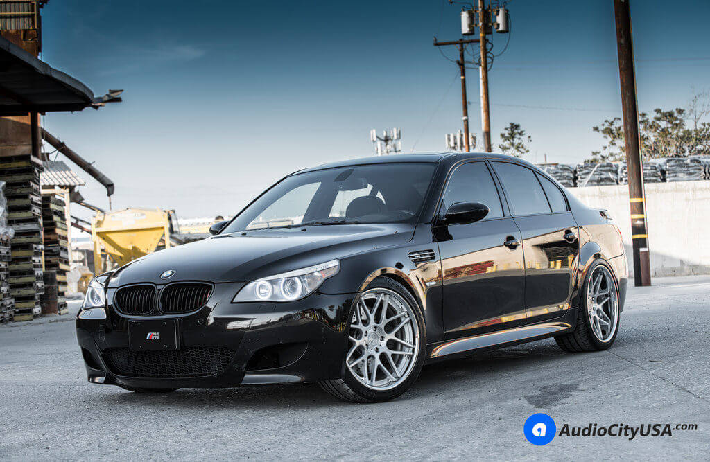 bmw_m5_e60_20_Rennen_Forged_R8_Brush_Face_Chrome_lip_Concave_AudioCityUsa