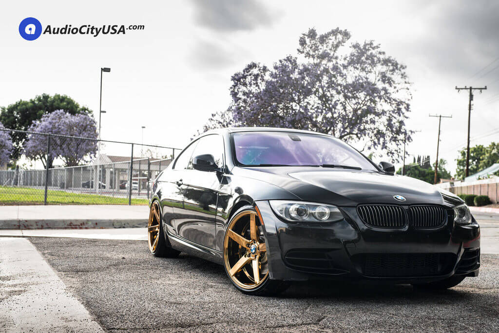 1_2011_BMW_335is_20_str_607_gold_wheels_rims_concave_AudioCityUsa