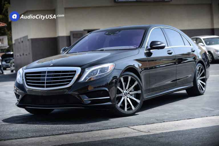 2016 Mercedes Benz S 550 | 20″ Inovit Wheels Revolve Black Machine rims | Goodyear Tires | AudioCityUsa