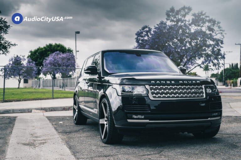 2016 Range Rover HSE Supercharged | 24″ Onyx Wheels 908 Black Machined Rims | AudioCityUSA