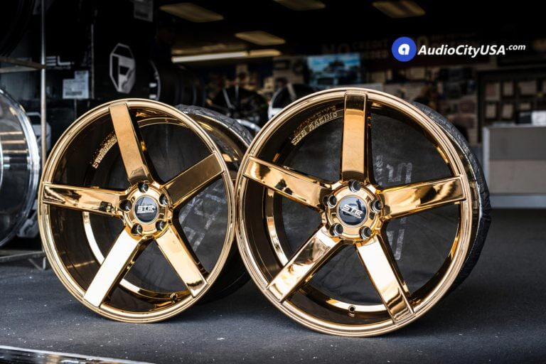 [Limited in Stock] 20″ STR Wheels 607 Gold Deep Concave Rims | AudioCityUSA