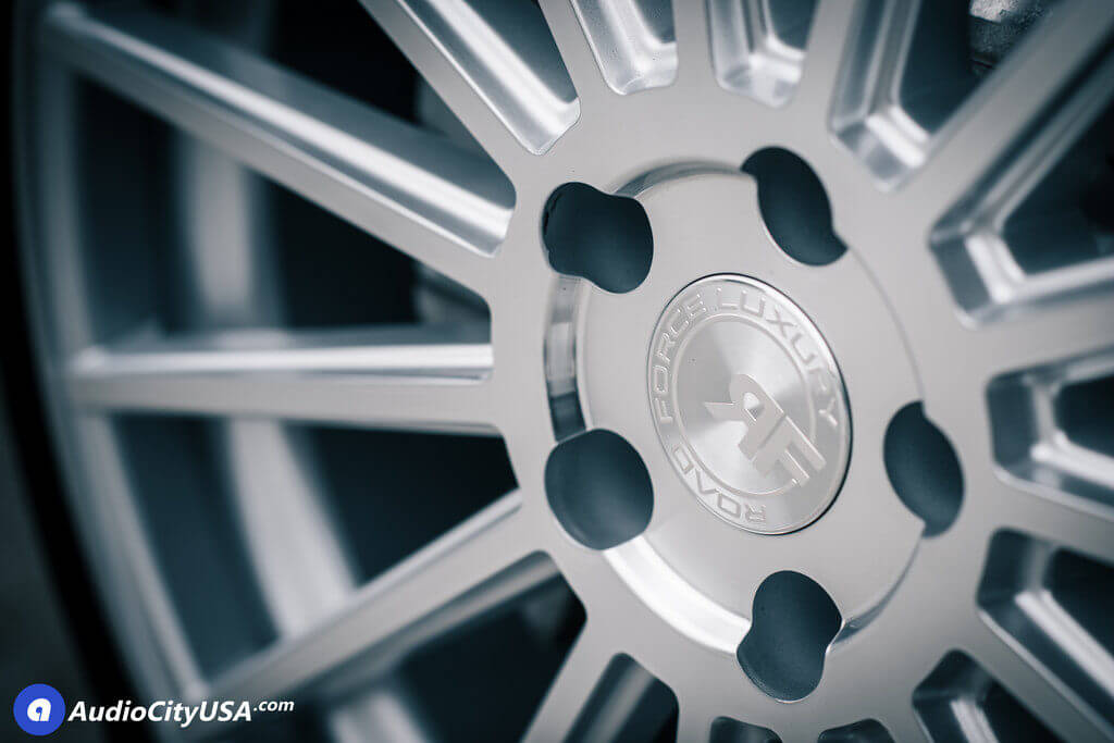 """22"""" Staggered Road Force Wheels RF15 Silver Machined Rims for 2014 BMW 750 Li Audio City USA"""