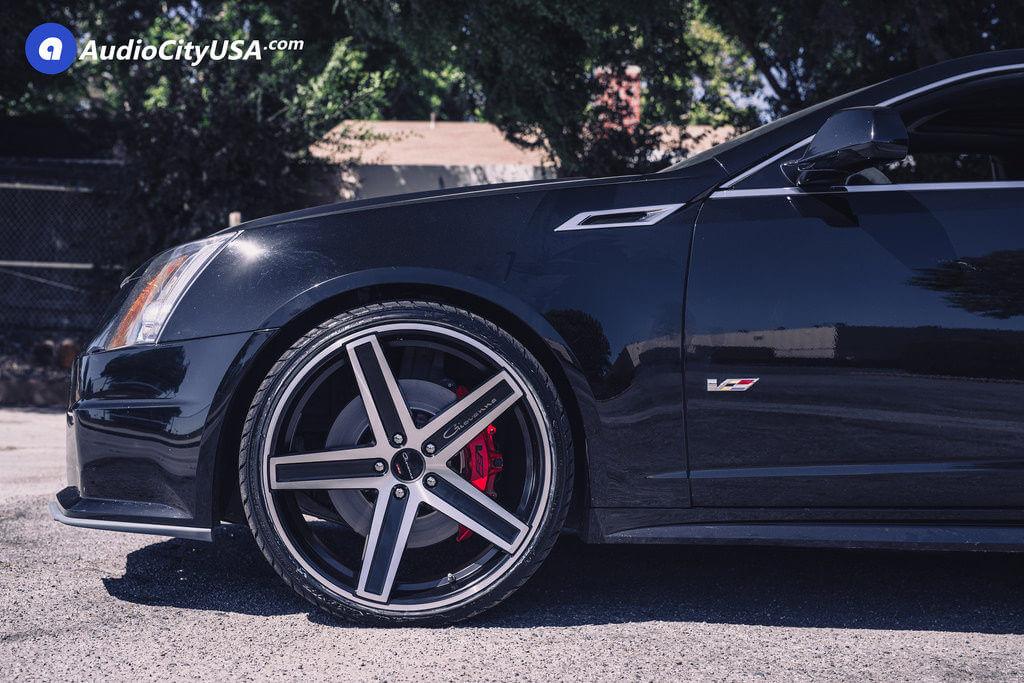 2014 Cadillac Cts V 22 Giovanna Wheels Dramuno 5 Black Machined