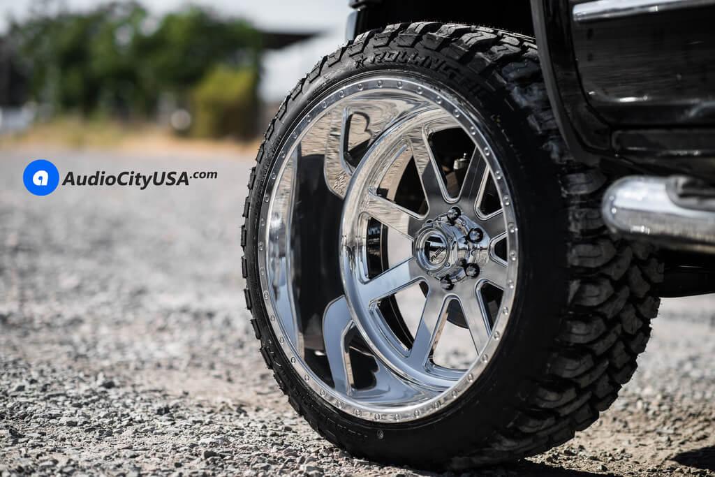 24 Fuel Forged Wheels Ff09 Full Polished Rims 35x12 50x24 Rbp