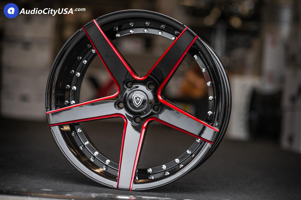 20 Quot Mq Wheels 3226 Gloss Black Red Milled Accents Deep