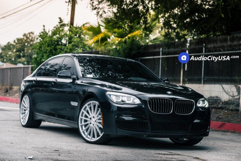 2014 BMW 750 Li | 22″ Road Force Wheels RF15 Silver Machined Rims | AudioCityUSA