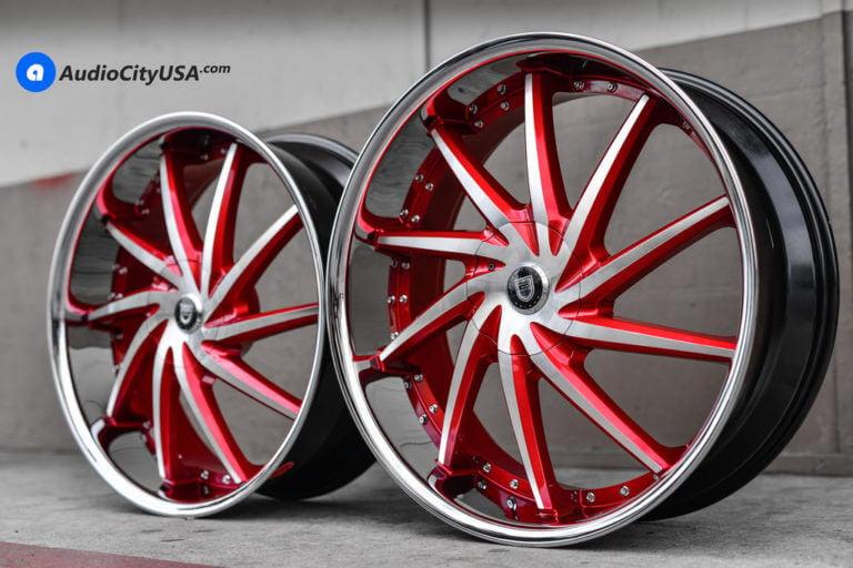 26″ Lexani Wheels Artemis Custom Painted Candy Apple Red | AudioCityUSA