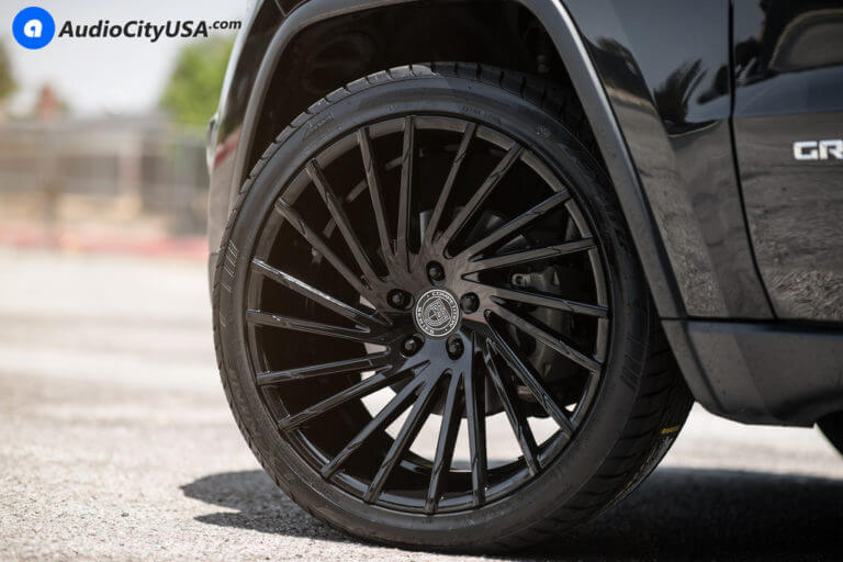 2015 Jeep Grand Cherokee | 22″ Lexani Wheels Wraith Gloss Black Dual Concave Rims | AudioCityUSA