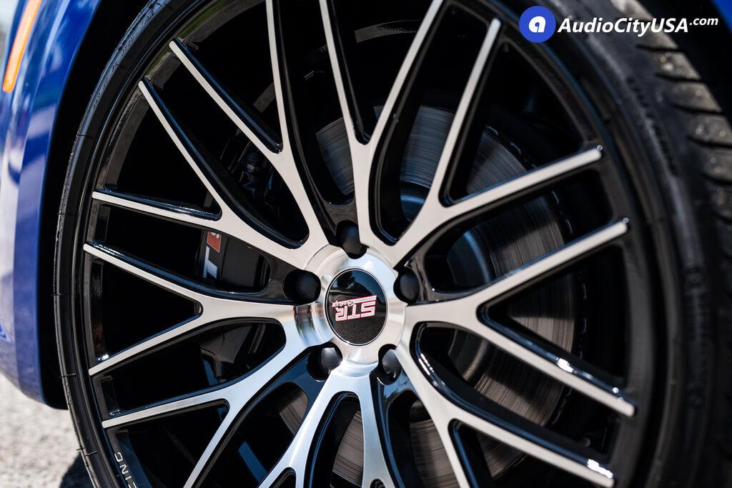 "Pirelli P Zero >> 20"" STR Wheels 615 Black Machined Rims | Pirelli P-Zero Tires | 2017 Audi TT-S | BLG080218 ..."