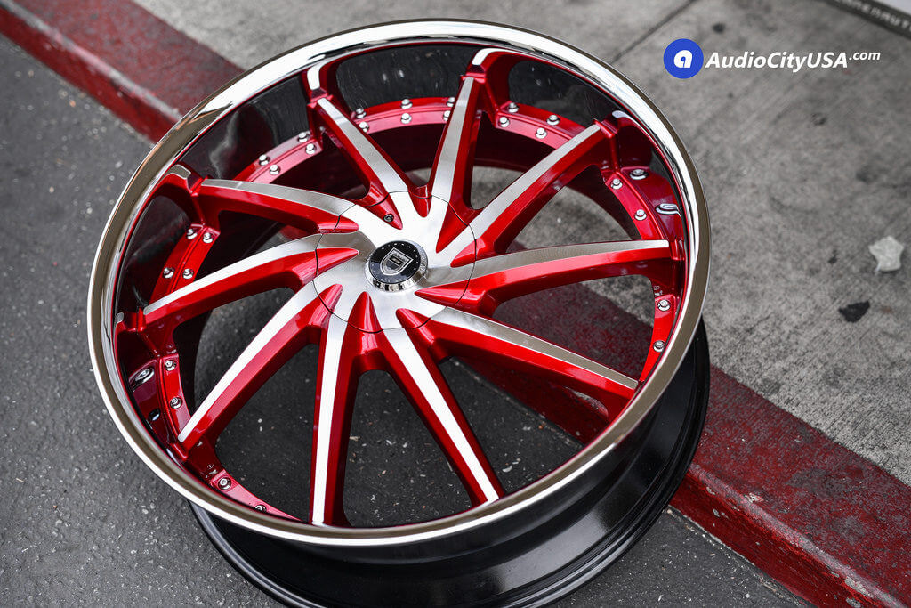 "Kia West Covina >> 26"" Lexani Wheels Artemis Custom Painted Candy Apple Red 