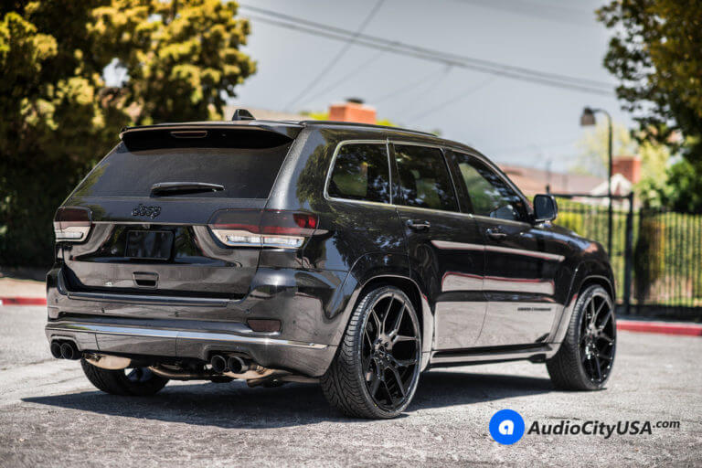 2016 Jeep Grand Cherokee | 24″ Giovanna Wheels Haleb Gloss Black Rims | AudioCityUSA