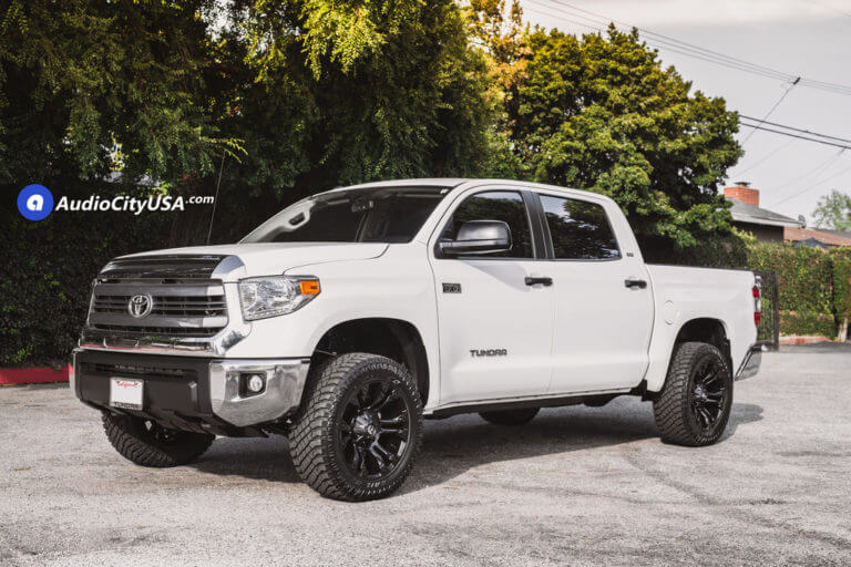 2016 Toyota Tundra | 20 Fuel Off-Road Wheels D560 Vapor Matte Black Rims | 33×12.5×20 Atturo TrailBlade XT Tires | AMS Leveling Kit | AudioCityUSA