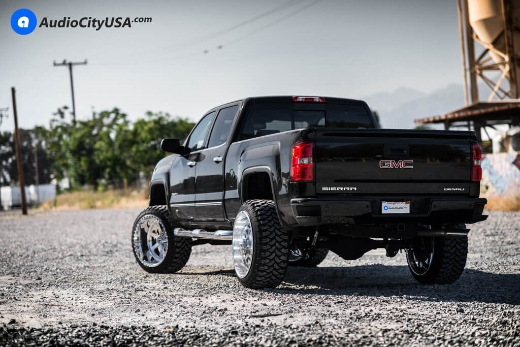 24 Fuel Forged Wheels Ff09 Full Polished Rims 35x12 50x24 Rbp Tires M T 7 Rough Country Suspension Lift Kit 2015 Gmc Sierra Denali 1500 Magnetic Ride Blg080318 Audio City Usaaudio City Usa