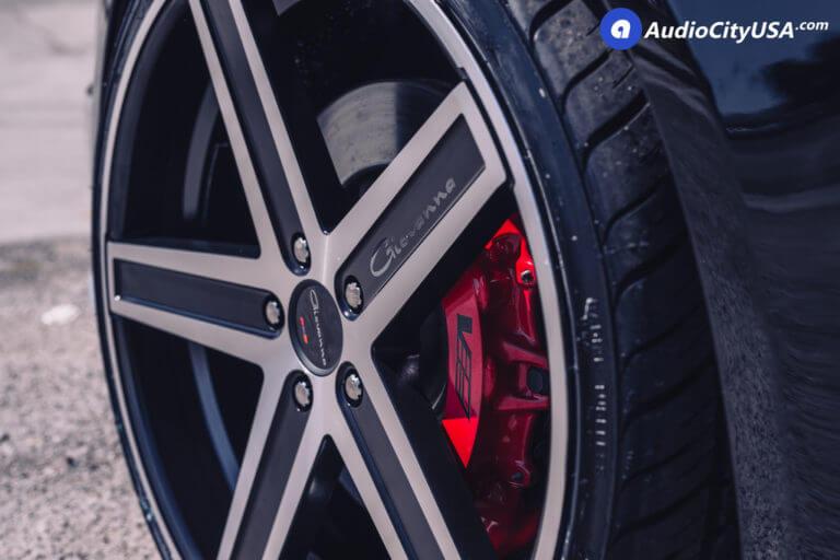 2014 Cadillac CTS-V  |  22″ Giovanna Wheels Dramuno-5 Black Machined Rims  |  AudioCityUSA