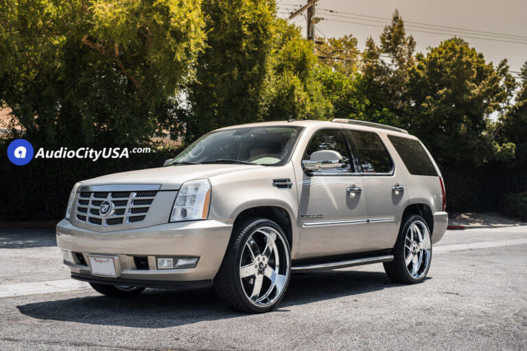 2012 Cadillac Escalade | 26″ DUB Wheels Big Baller S222 Chrome Rims | AudioCityUSA