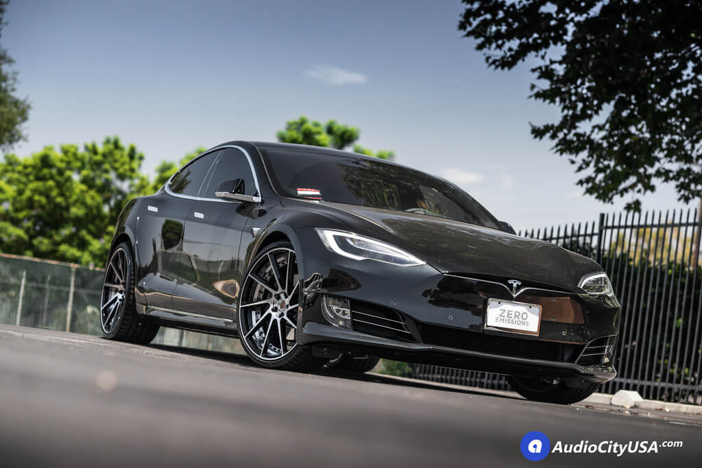 "2017 Tesla Model S | 22"" ERW Wheels ERW-3 Black Machined ..."