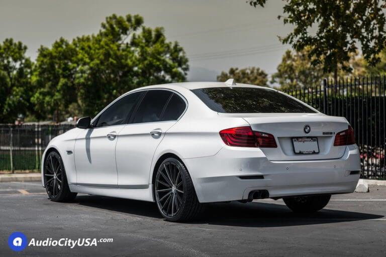 2013 BMW 528i | 20″ Lexani Wheels Pegasus Gloss Black Milled Rims | H&R Springs | AudioCityUSA