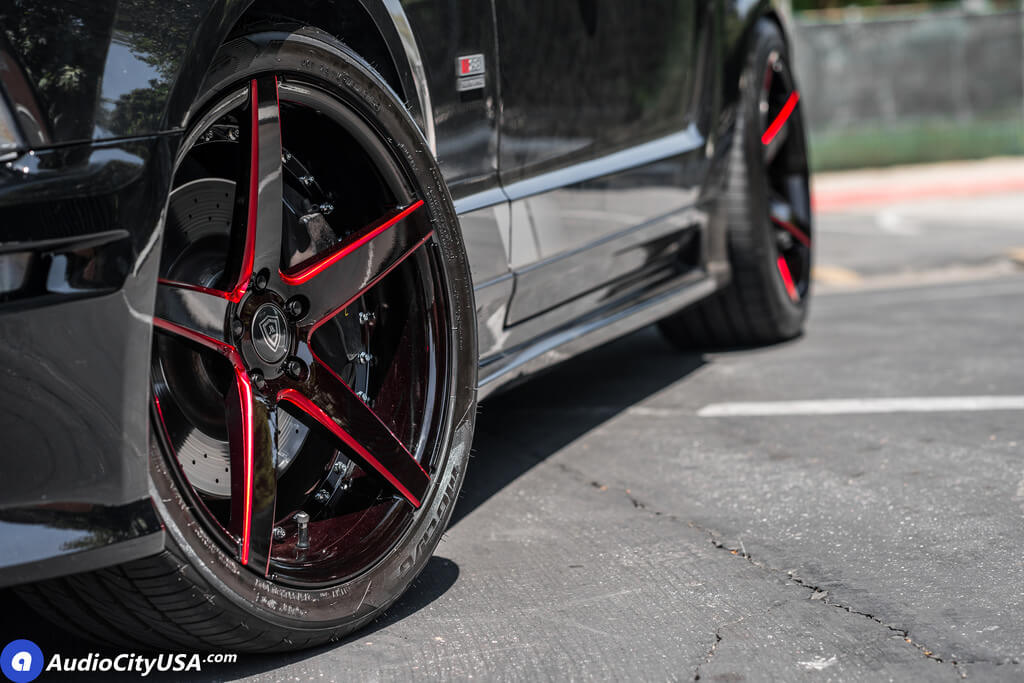 """20"""" Marquee Wheels M3226 Gloss Black Milled with Red Accents Rims"""