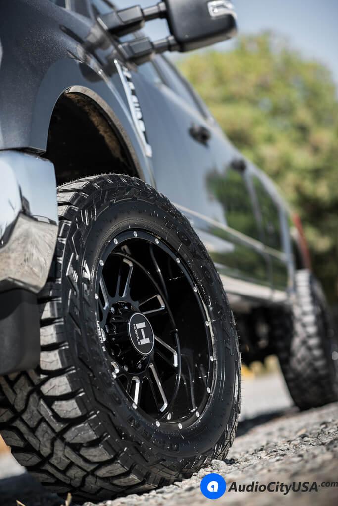 """20"""" Hostile Wheels Stryker Gloss Black Milled Rims"""