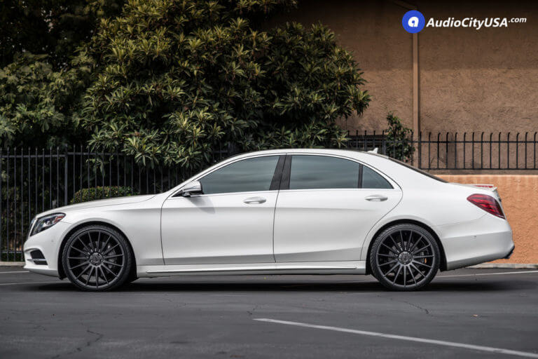 2016 Mercedes Benz S550 | 22″ Niche Wheels Form M157 Charcoal Rims | AudioCItyUSA