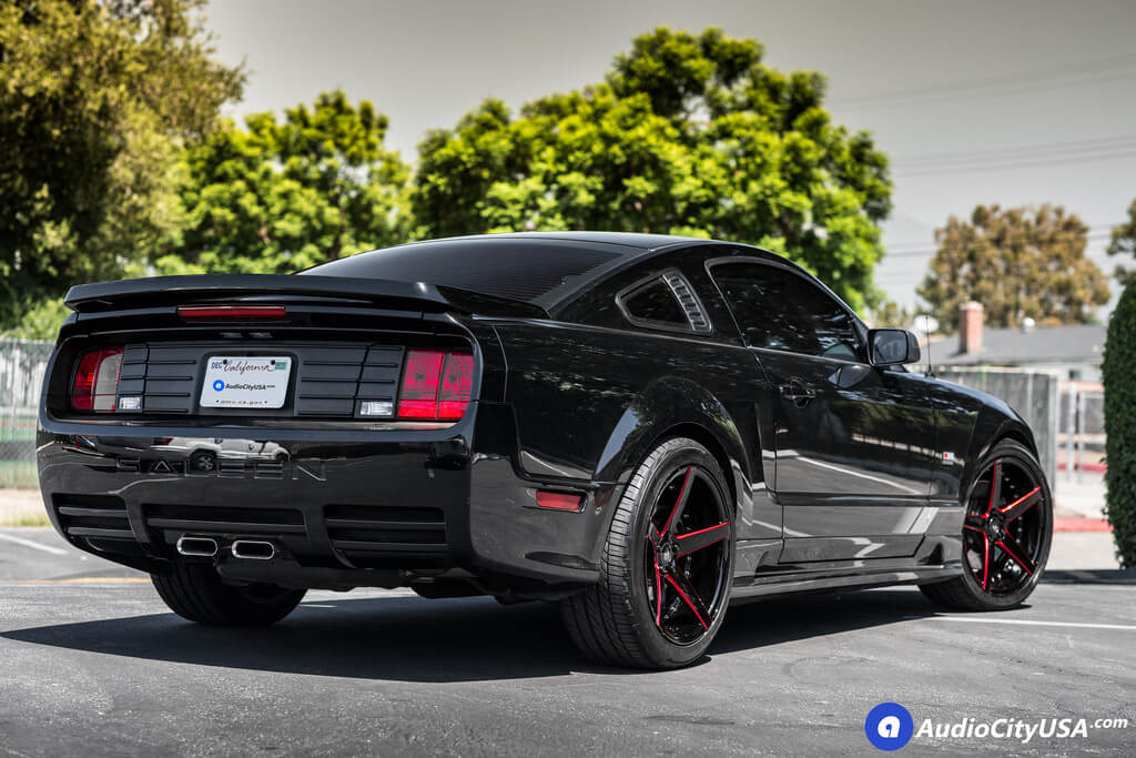 2008 Mustang Rims >> 20 Marquee Wheels M3226 Gloss Black Milled With Red Accents