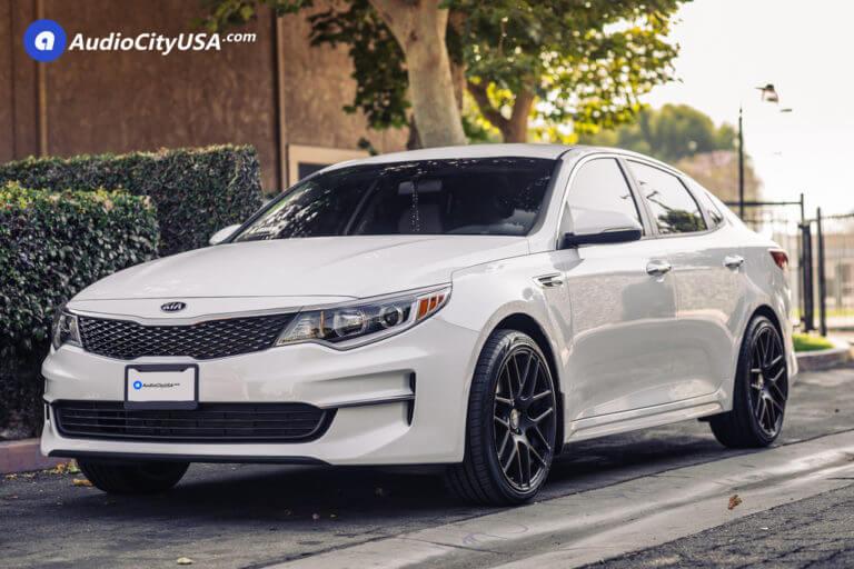 2017 Kia Optima   19″ Curva Wheels C7 Matte black   225-40-19 Tires   AudioCityUsa
