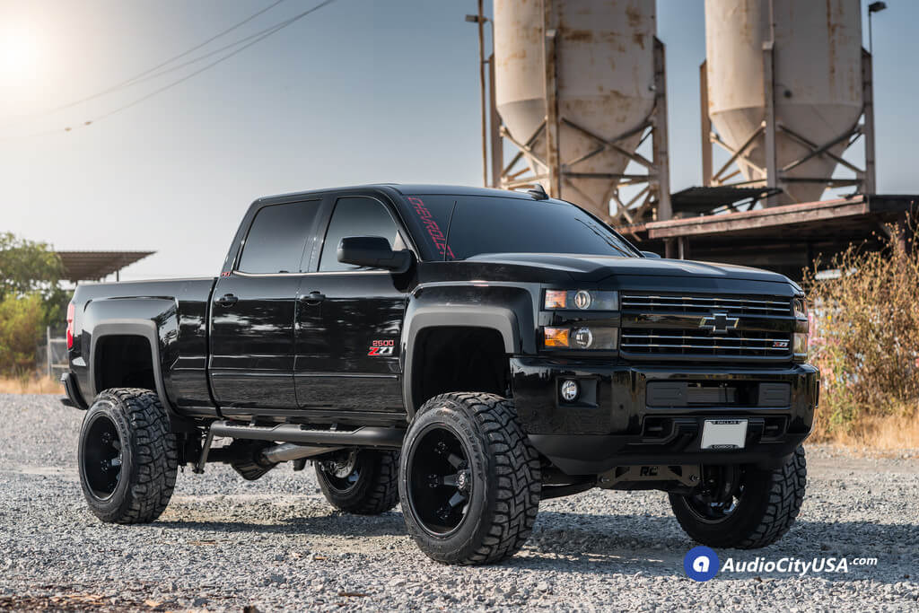 All Black Lifted Chevy Truck Best Image Truck Kusaboshi Com