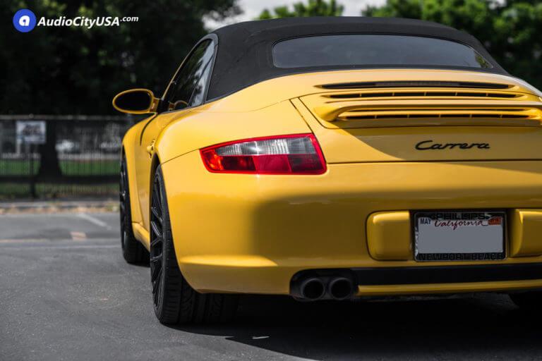2007 Porsche 911 Carrera | 19″ Victor Equipment Wheels Stabil Satin Black Rims | AudioCityUSA