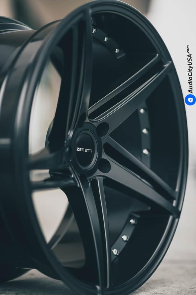 20″ Zenetti Wheels Laguna Satin Black Now in Stock