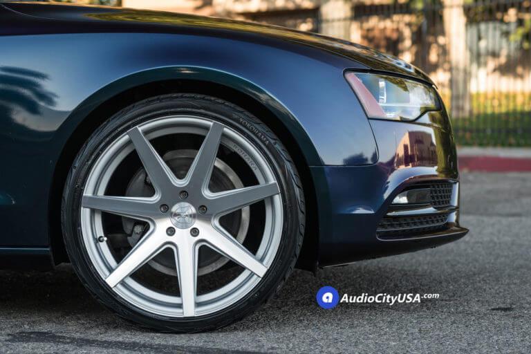 2014 Audi A5 | 20″ Rohana Wheels RC7 Silver Machined Rims | Yokohama Tires | AudioCityUSA
