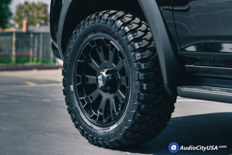20″ XD Wheels XD800 Misfit Satin Black Rims | 2014 Toyota 4Runner SR5 | 33×12.5×20 RBP MT Tires | AMS Leveling Kit