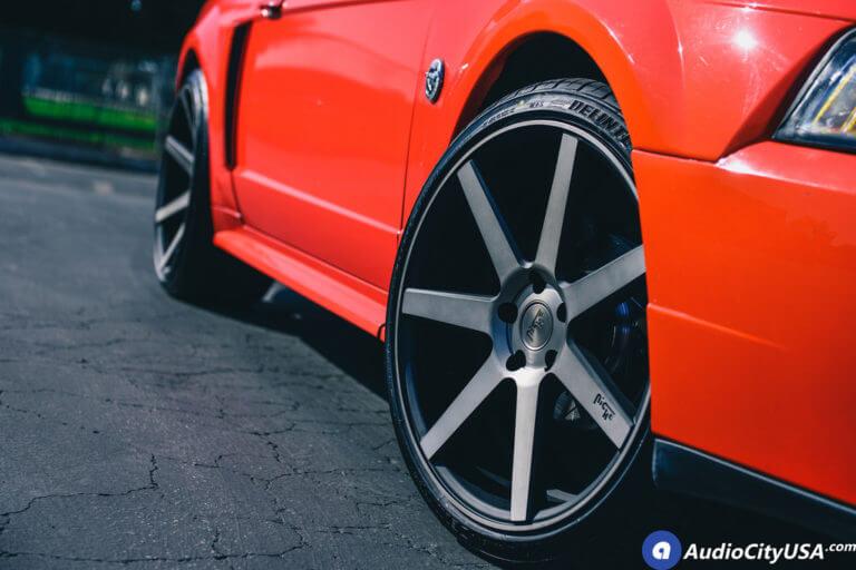 2004 Ford Mustang GT | 20″ Niche Wheels Verona M150 Black Face, Double Tint Face | Deep Concave | AudioCityUsa