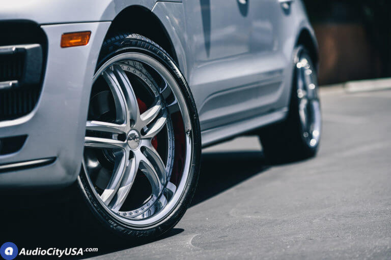 2015 Porsche Macan Turbo | 22″ XIX Wheels X15 Silver Machine Chrome Lip | AudioCityUsa