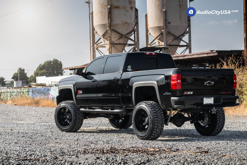 22 Fuel Wheels D509 Octance Matte Black Rims 7 1 2 Rough Country