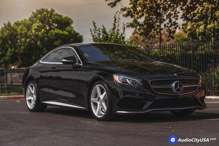 20″ Niche Wheels M184 Carini Brushed Silver Rims | Goodyear Eagle F1 Tires | 2017 Mercedes Benz S550 Coupe