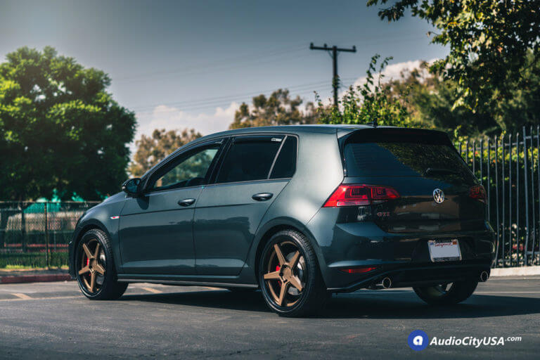 19″ Ferrada Wheels FR3 Bronze with Gloss Black Lip Rims | 2017 Volkswagen Golf GTI