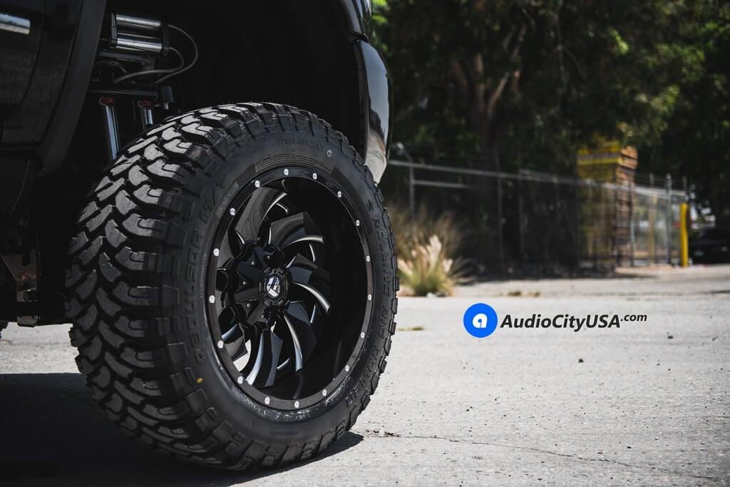 "22"" Fuel Wheels D239 Cleaver Gloss Black Audio City USA"