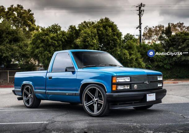 Chevy Silverado Iroc Black Machine Audiocityusa X on 1995 Dodge Dakota Custom