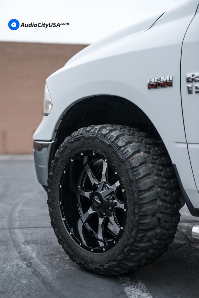 "2017 Dodge Ram Big Horn >> 20"" Moto Metal Wheels MO970 Black Machined Rims | 33x12.5x20 Federal MT Tires | AMS Leveling Kit ..."