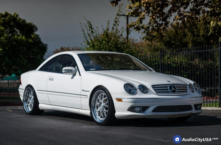 20″ Rennen Wheels CSL 2 Brush Silver Chrome Step Lip Rims | Hankook Ventus V12 Tires | 2005 Mercedes Benz CL55 AMG