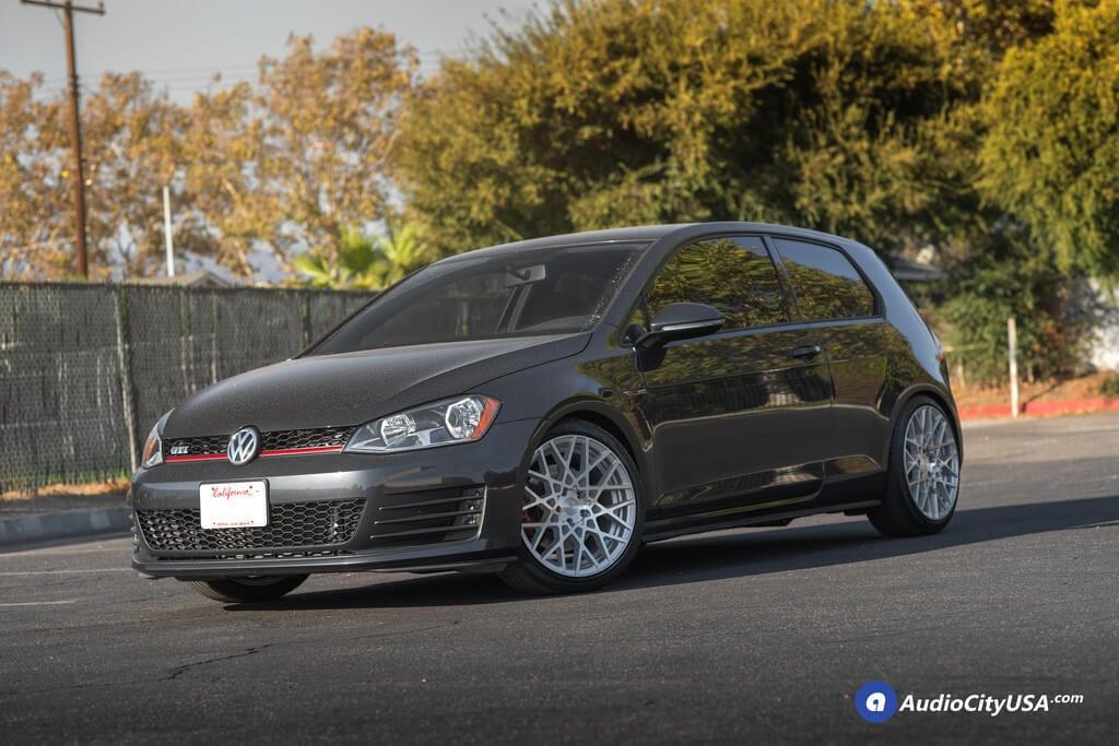 rotiform wheels blq silver machined rims    pirelli tires  volkswagen golf