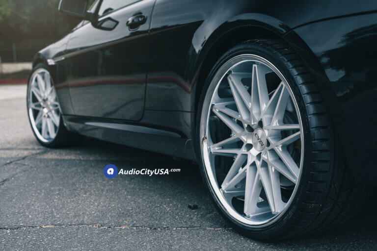 22″ AZAD Wheels AZ41 Silver Machined with Chrome Lip Rims | 2009 BMW 650i