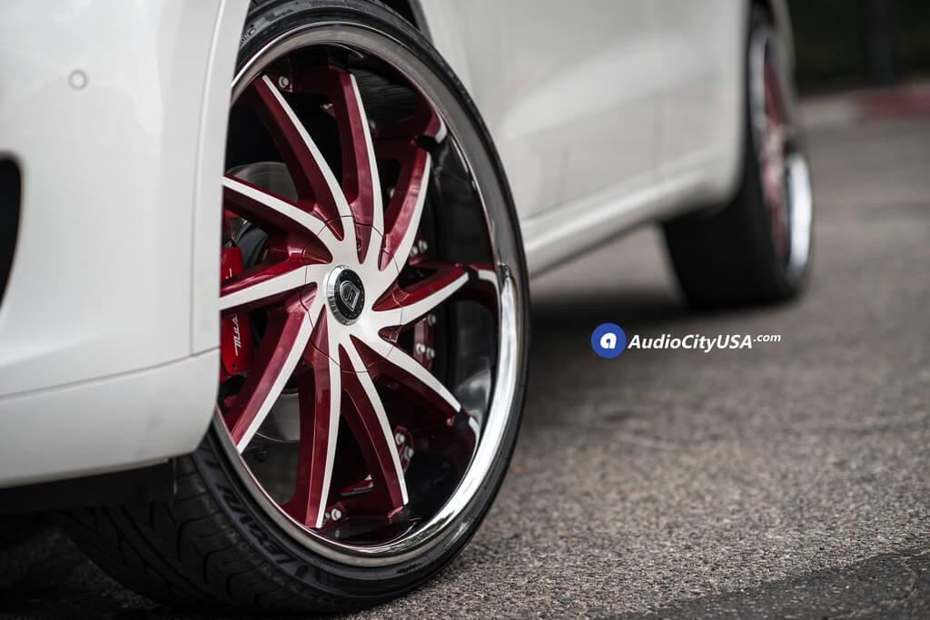 24″ Lexani Wheels Artemis Custom- Color Match with Chrome Lip Rims.