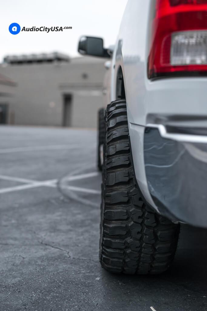 20″ Moto Metal Wheels MO970 Black Machined Rims   33×12.5×20 Federal MT Tires   AMS Leveling Kit   2015 Dodge Ram 1500