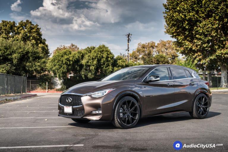 20″ Niche Wheels M117 Misano Matte Black Rims | Toyo Extensa HP Tires | 2017 Infiniti QX30s