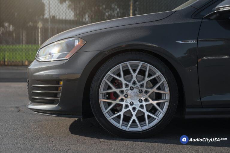 18″ Rotiform Wheels BLQ Silver Machined Rims | 225-40-18 Pirelli Tires | 2015 Volkswagen Golf GTI