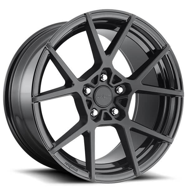 "20"" Rotiform Wheels R139 KPS Satin Black Rims"
