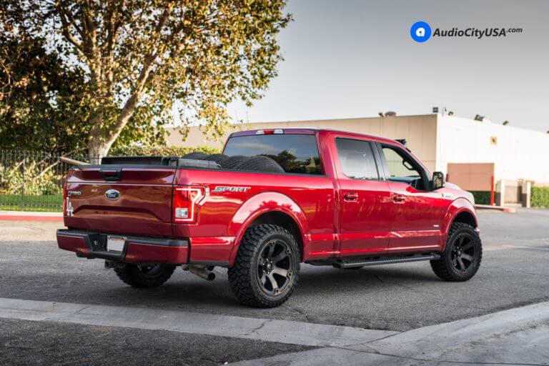20″ Fuel Wheels Beast D564 Black Double Tint face | AMS Suspension Leveling Kit | 33×12.5×20 RBP Tires | 2015 Ford F-150 Sport